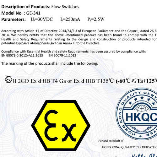 ATEX flame proof