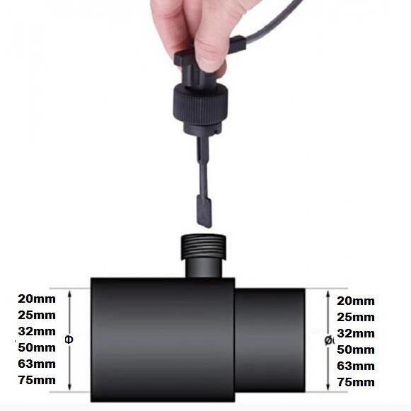 PVC流量开关安装尺寸图